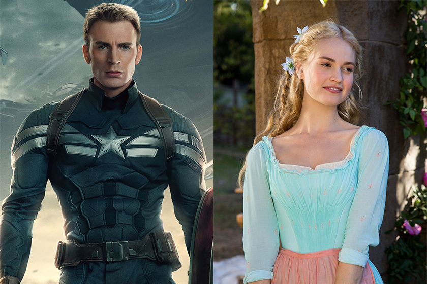 Chris Evans and Lily James date in park