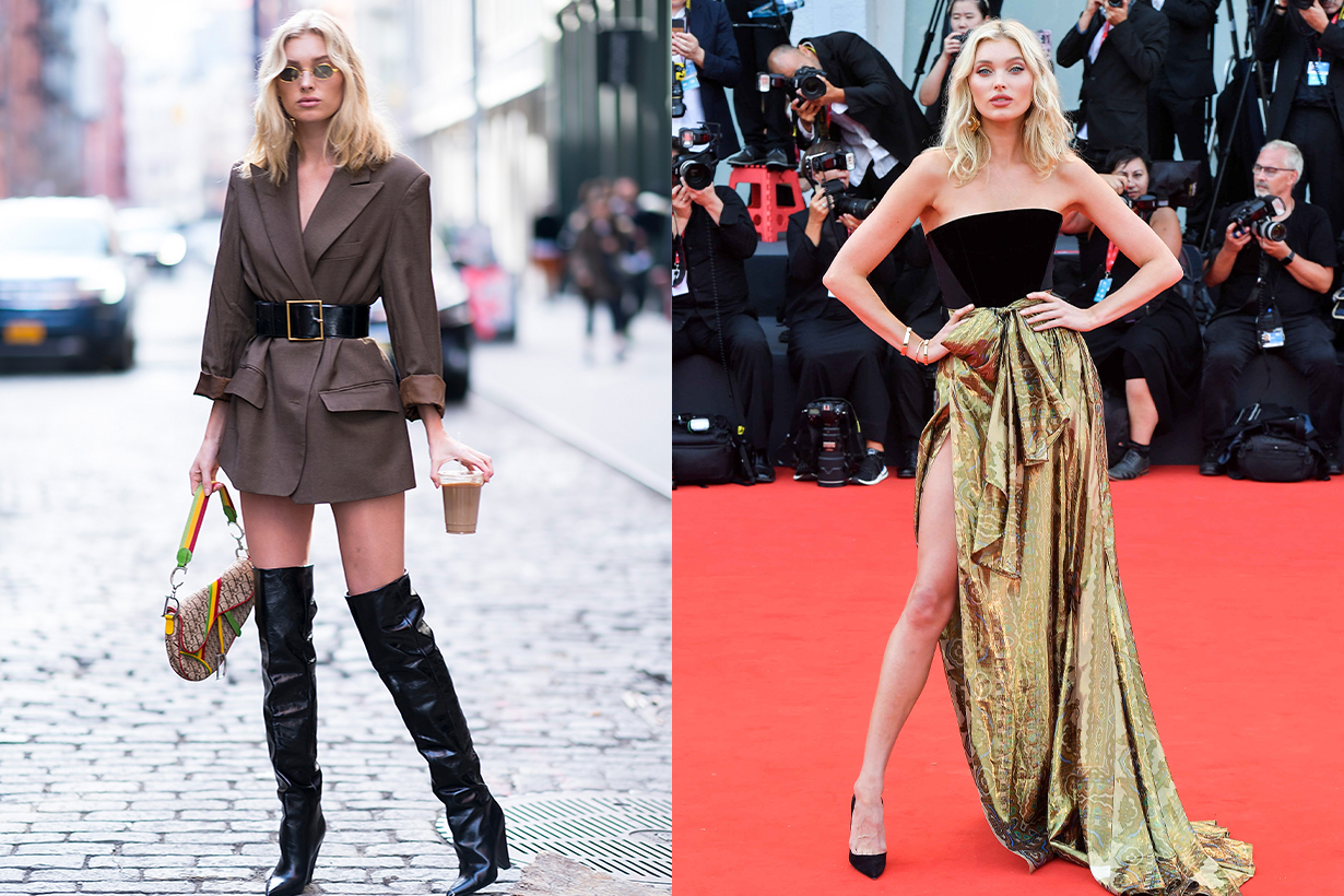 Elsa Hosk Ex Victoria's Secret Angels Super Model Arms Exercises Home Workout Training Lose Weight Keep Fit Celebrities fitness tips