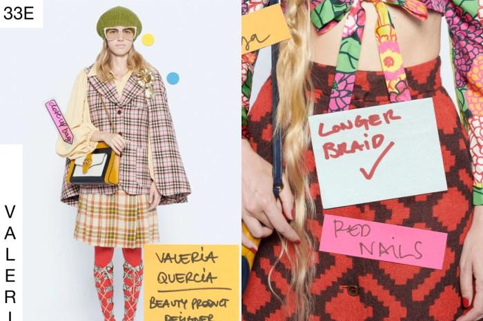 仔細一讀 Gucci 最新系列上的便利貼,原來打破了一個過往大秀的慣例!