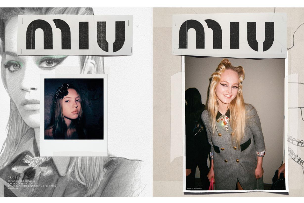 Gigi Hadid Shares Her Backstage Photos in Miu Miu Campaign