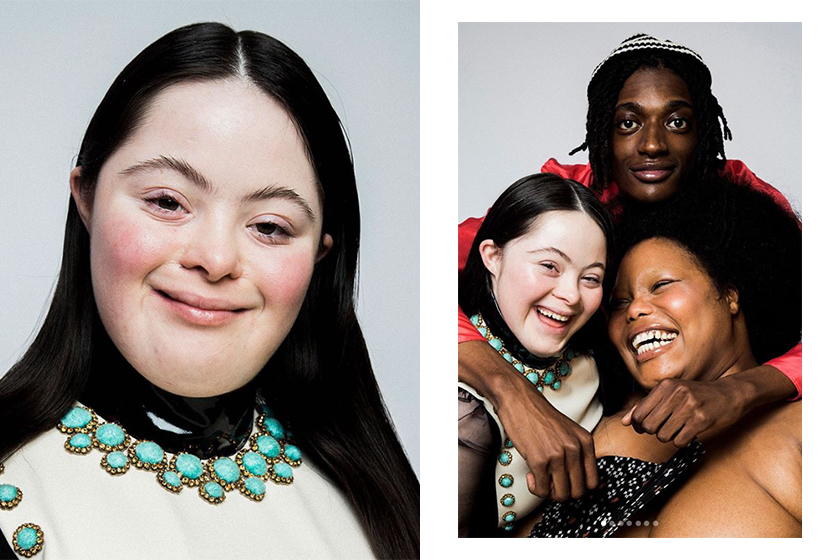 gucci beauty down syndrome model ellie goldstein stars in campaign 2020