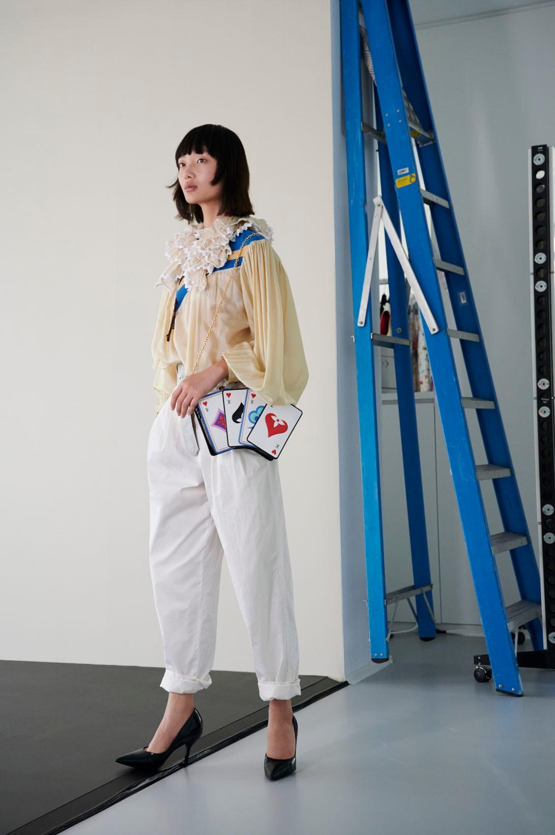 Louis vuitton cruise 2021 womenswear collection monogram heart handbag Nicolas ghesquiere