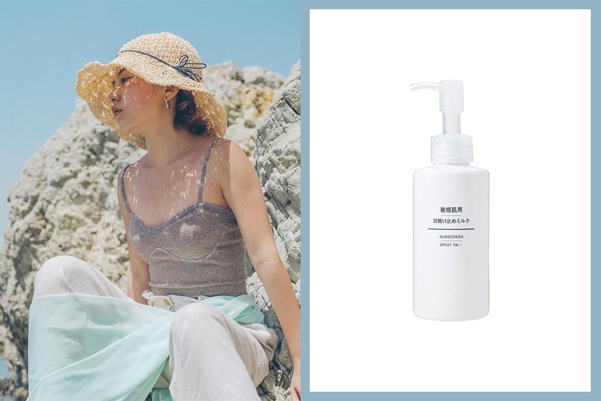 Muji Sunscreen SPF 27 PA++ Sensitive Skin organic sunscreen sunscreen mist japanese skincare