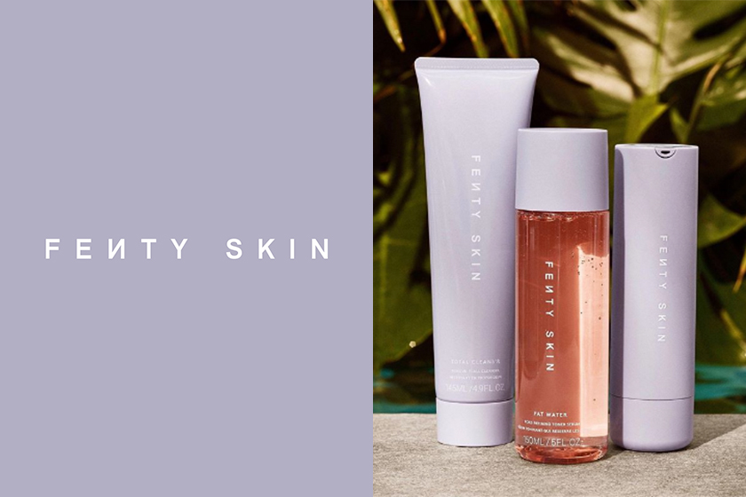 rihanna fenty skin first products reveal cleanser toner moisturizer sunscreen skincare