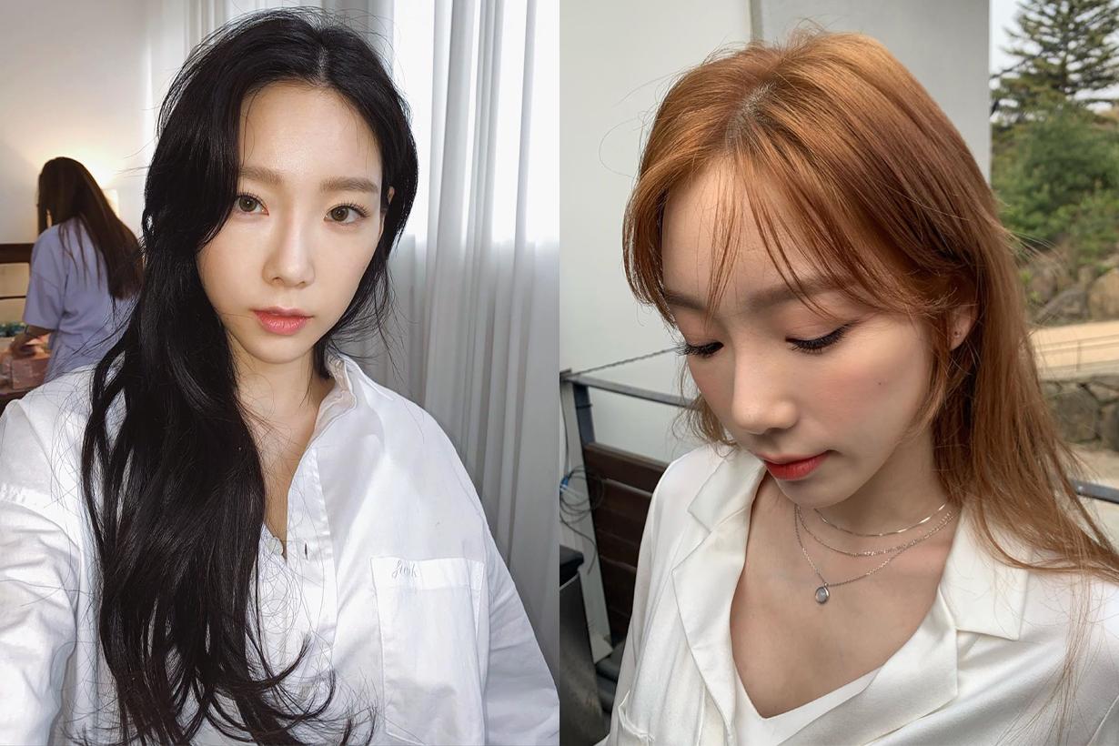 Taeyeon Kim Girl's Generation Black Hair Colour Bang Hairstyles Celebrities Hairstyles Korean idols celebrities singers girl bands