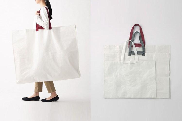 MUJI 不僅開設首家便利店,不同尺寸的純白購物袋也成焦點!