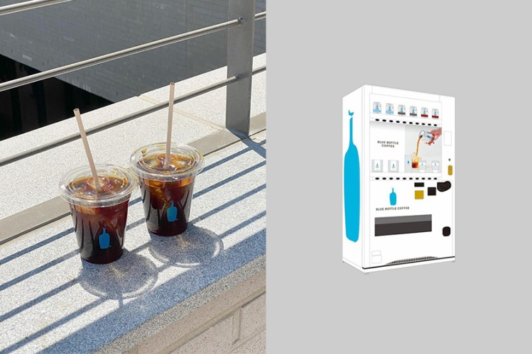 不用排隊也能喝到:人氣的藍瓶咖啡 Blue Bottle Coffee 推出專屬自動販賣機!
