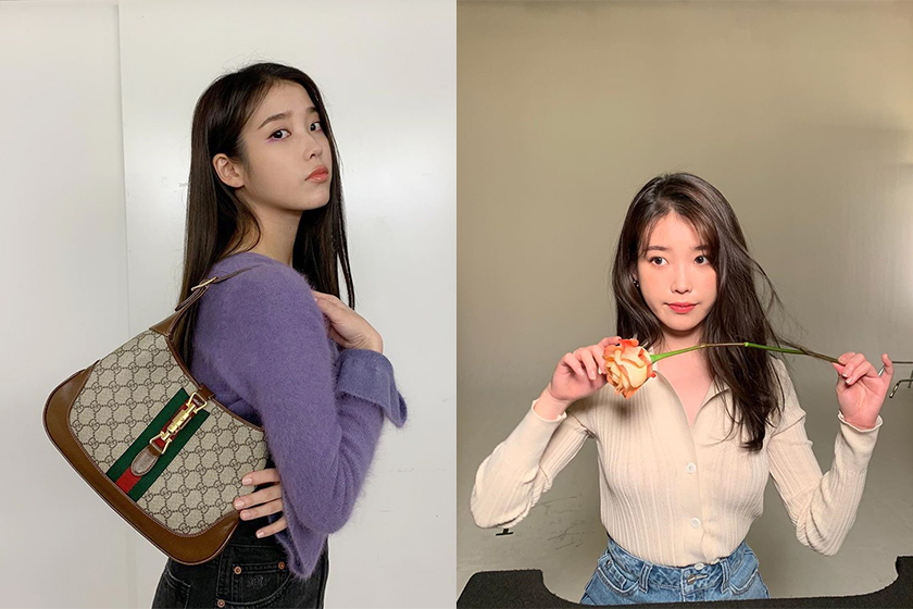 IU Korean Star Style Gucci Handbags