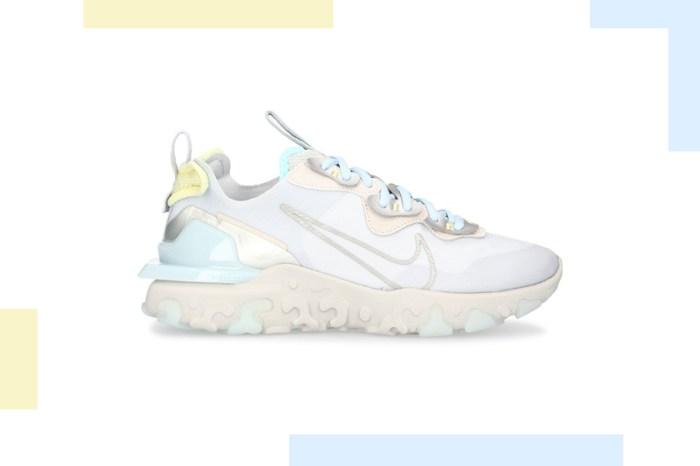 迷人細節:一抹低飽和的淡藍色,讓 Nike 這雙 React Vision 沁涼你的夏日穿搭!
