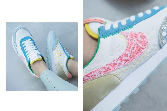 蕾絲+格紋 Swoosh 實在太可愛!Nike 為女生都愛的 Daybreak 帶來粉嫩的拼接設計!