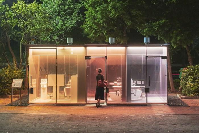 知名建築師打造:在東京最熱鬧的涉谷區,竟然出現數間「透明設計」的廁所!