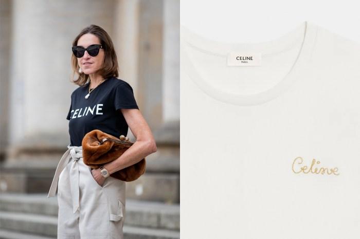 毫不費力的優雅:除了 Logo 款以外,Celine 這件草寫刺繡 Tee 低調的讓人著迷!