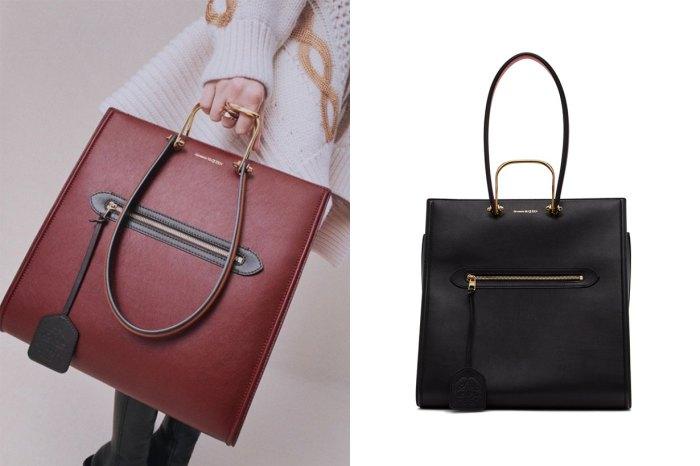 低調但充滿高級細節:Alexander McQueen 這款 Tote Bag,每個上班女生也想擁有!