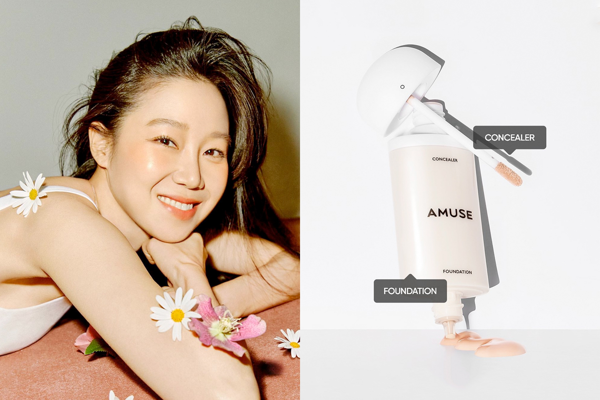 amuse 2 in 1 skin tone foundation Kong Hyo-jin
