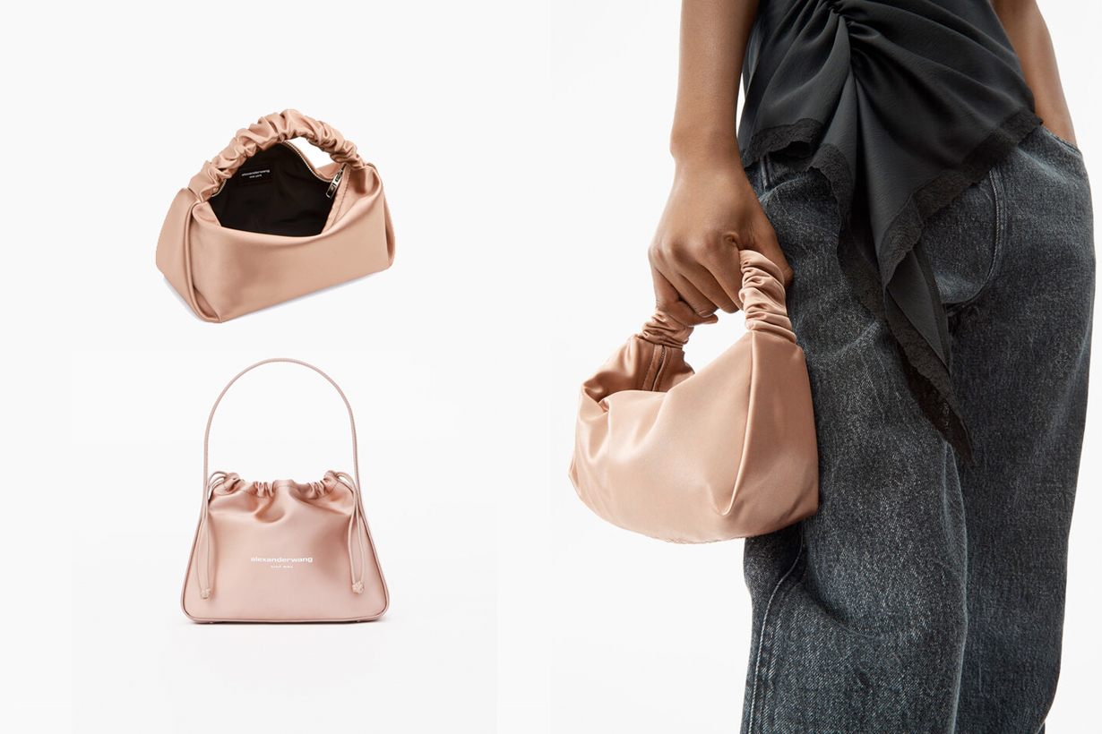 alexander wang pink satin handbag ryan Surunchie Bag 2020
