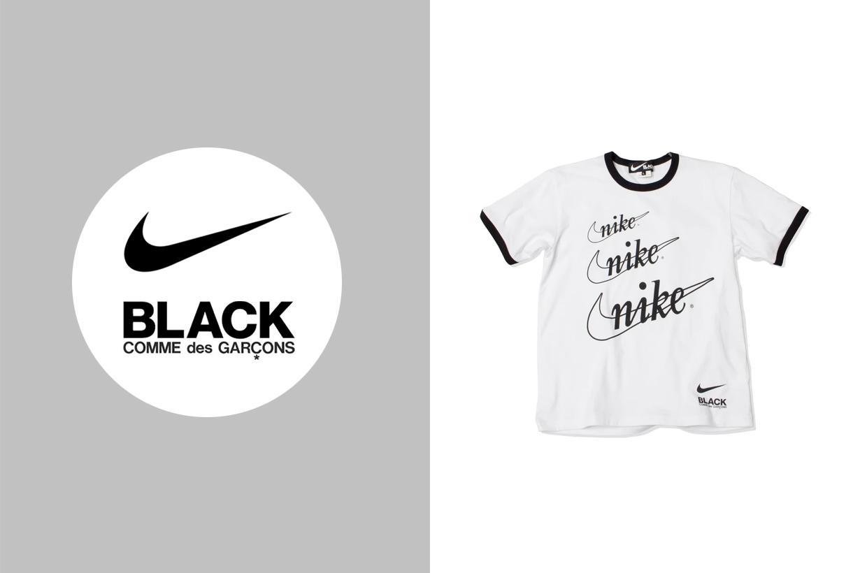 nike comme des garcons black collabration 2020 t-shirt old logo