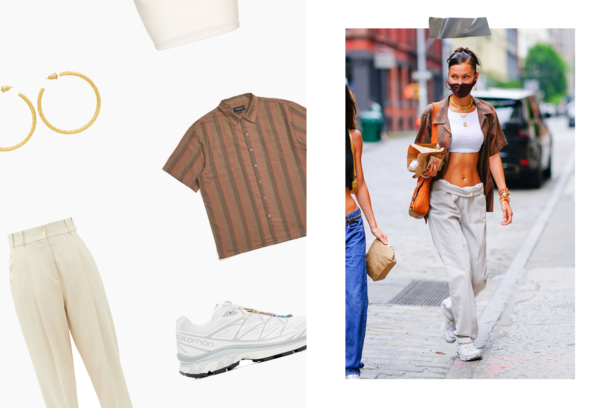 bella hadid style tips dad jeans boyish chic