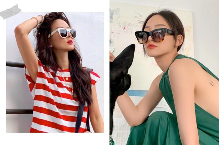 配件生力軍:夏天少不了的墨鏡,女星都紛紛戴起了同個品牌的新款!