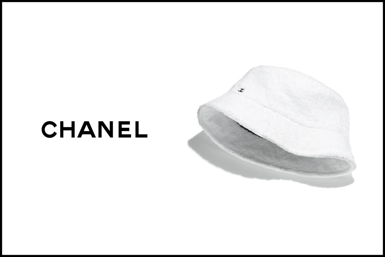 chanel logo bucket hat 2020 white basic black where when