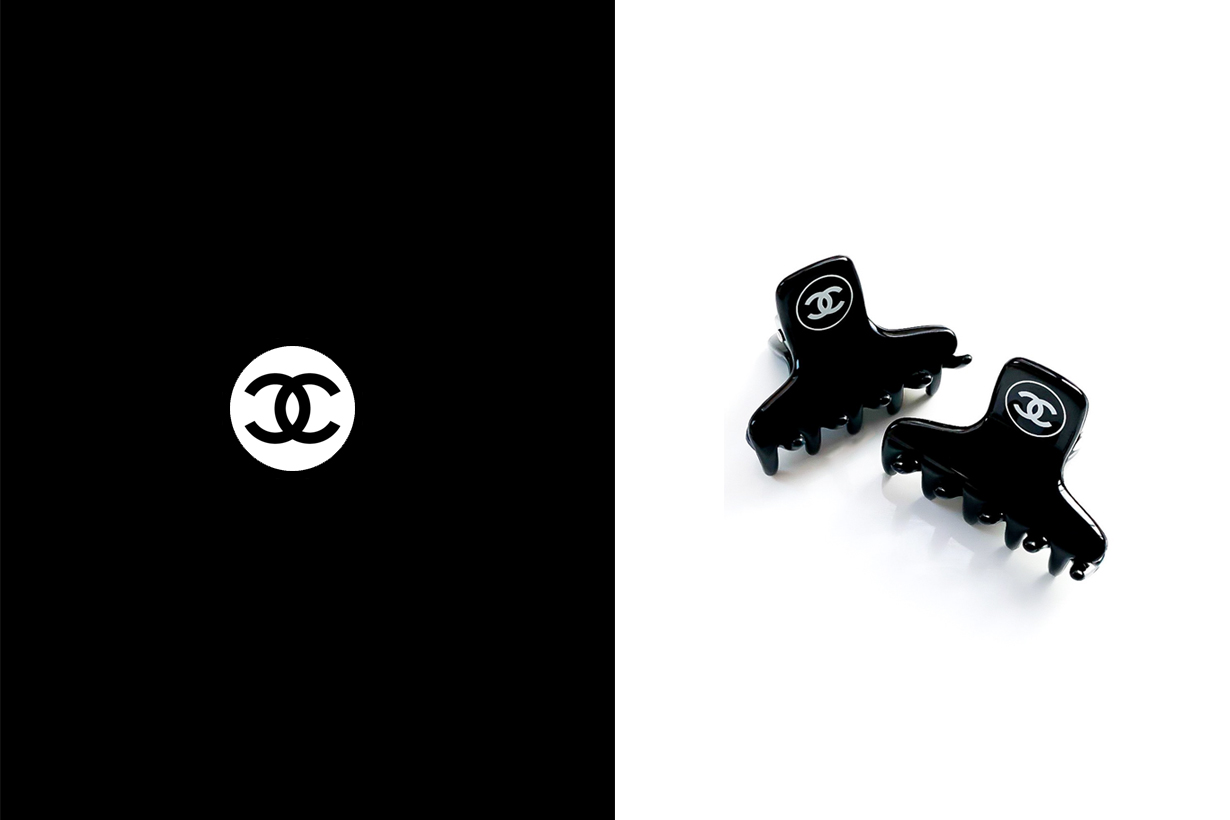 chanel hair claw clips vintage vip gift