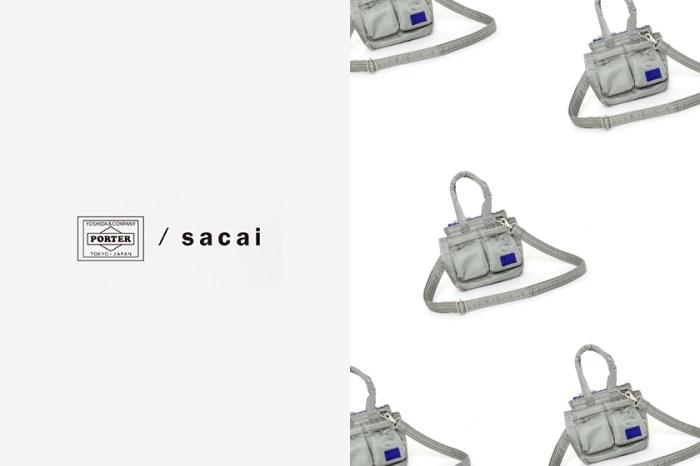 Sacai x Porter 最新聯乘系列,這一款銀色迷你包最受女生歡迎!