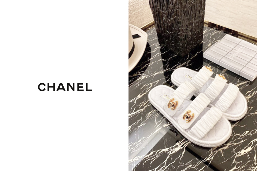 chanel coco beach 2020 slip-on slides shoes