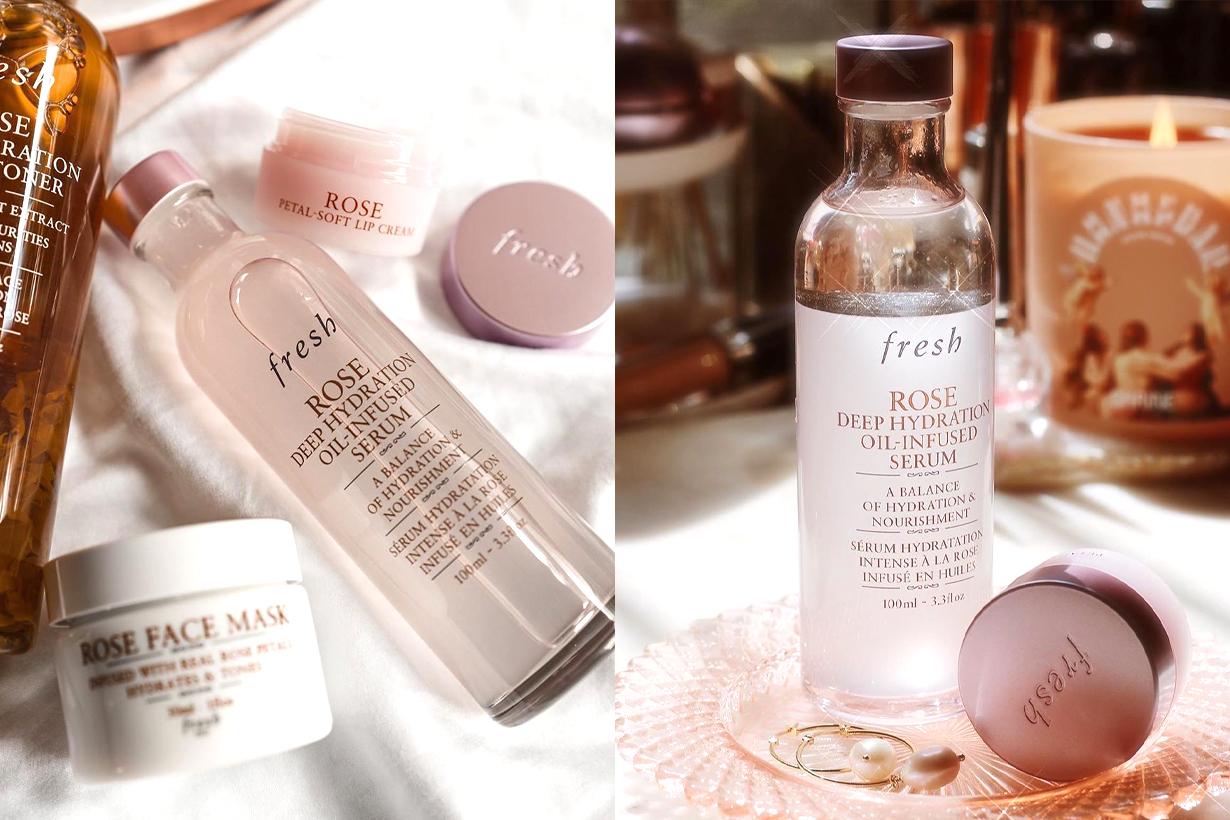 Fresh Rose Deep Hydration Oil-Infused Serum Moisturizing dewy skin water oil balance anti-inflammatory skincare