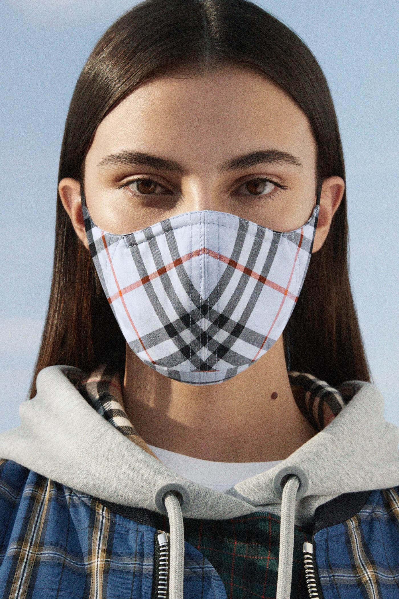 burberry vintage check face mask ppe reusable charity donation coronavirus covid-19