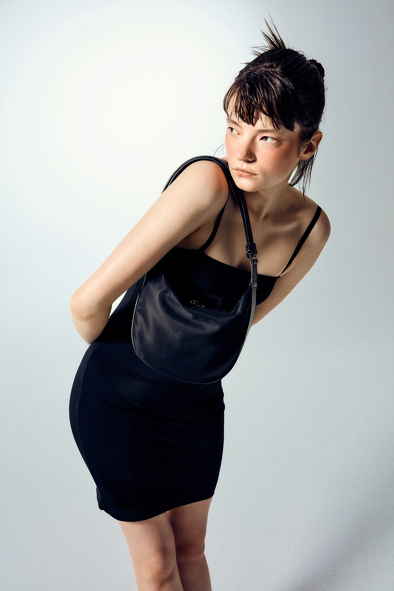 marge sherwood korean brand moss half nylon 90s bag black Kate moss release
