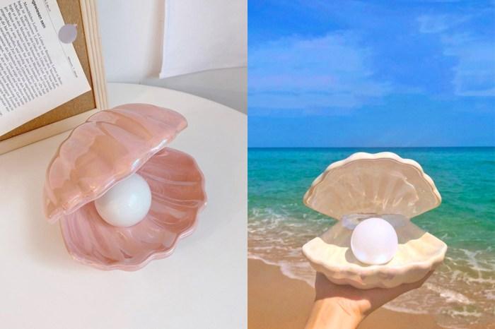 用這盞珍珠貝殼小燈一圓美人魚夢:不僅夢幻還能 2 用,難怪讓日韓女生都紛紛入手!