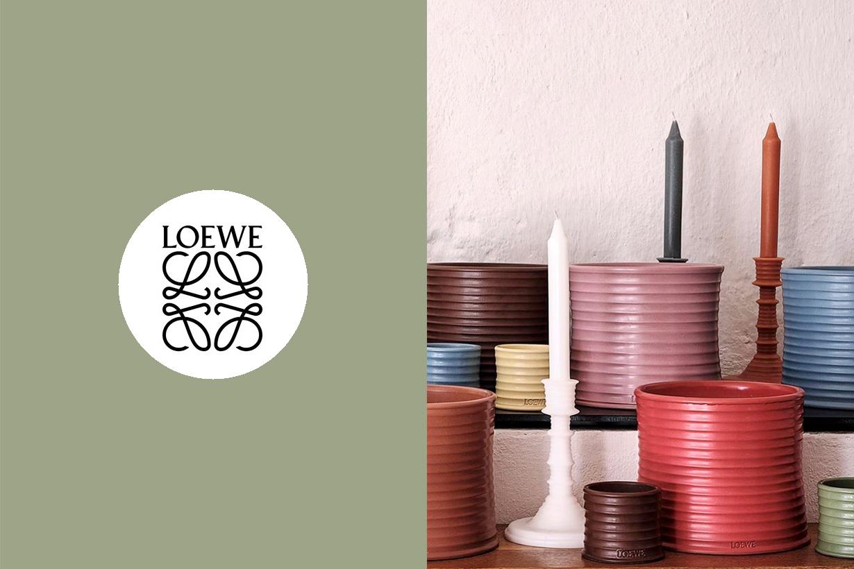 loewe home fragrance sep 2020 series wax candle diffuser coriander marihuana