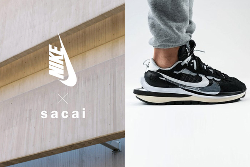 sacai nike vaporwaffle sneakers new colourways 2021 spring release shoes