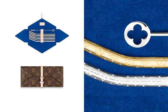 Louis Vuitton 老花圖騰的魅力:US$1,300 的環保吸管組,已經售罄一空!