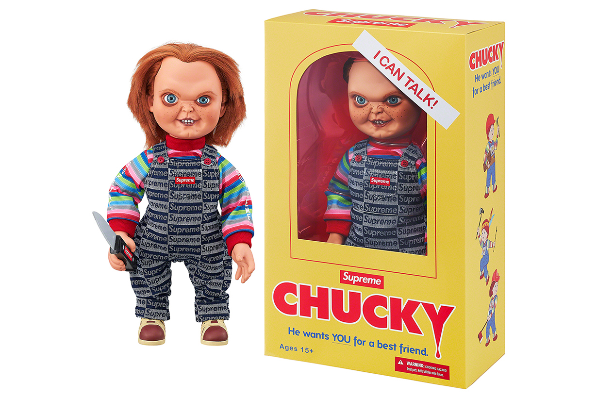 supreme fall winter 2020 accessories Colgate toothpaste and CHUCKY doll