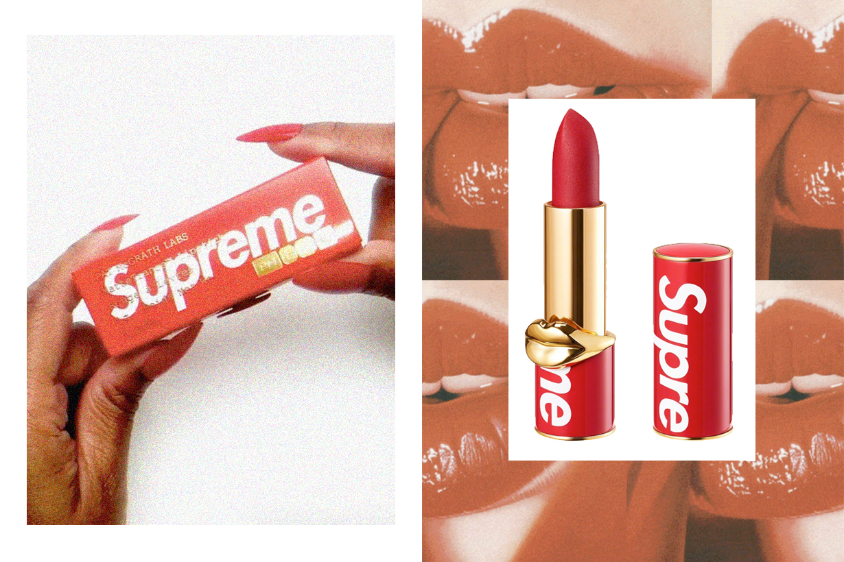 supreme Pat McGrath lipstick red 2020 when release aw online