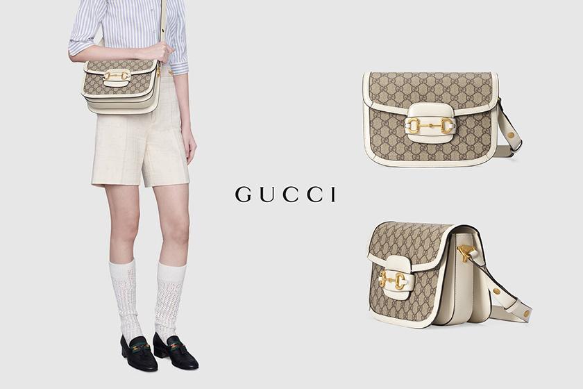 Gucci 1955 Horsebitbags Beige & White handbags 2020