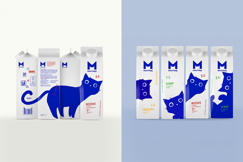 Milgrad Milk Cat Package Design Depot