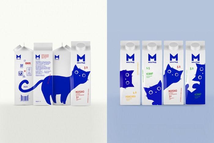 用牛奶盒排列出可愛的貓咪圖樣:這個新包裝剛推出便引起日本女生熱議!