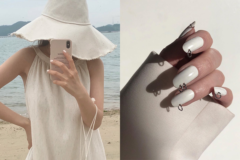 2020 FW White Nude Nail Arts inspiration