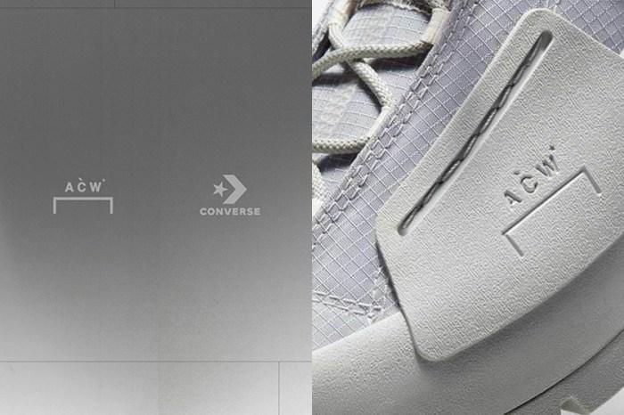 低調淡雅的冷灰色:期待萬分的 A-COLD-WALL* x Converse 聯名鞋款樣貌曝光!