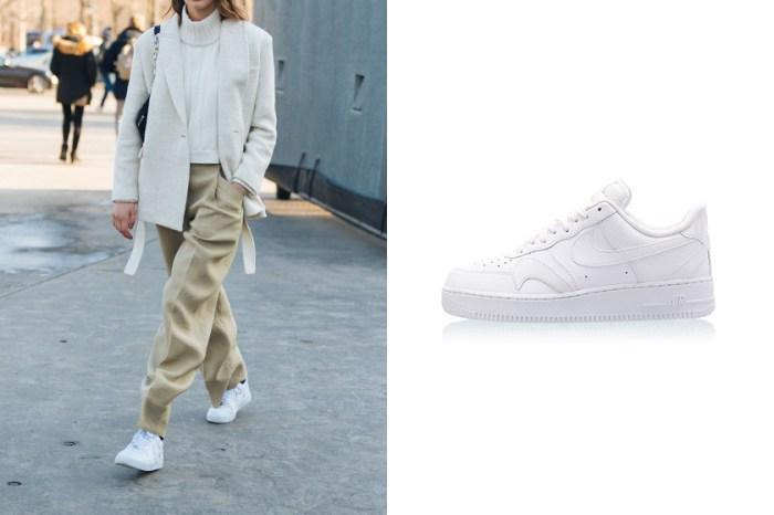 時髦女生的愛鞋:看似平凡的這雙純白 Air Force 1,其實藏有與眾不同的細節!