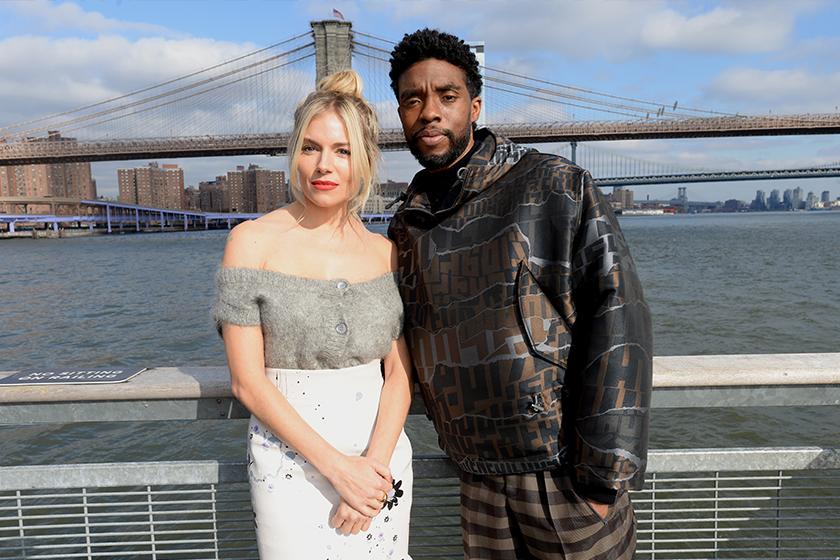 Chadwick Boseman Sienna Miller 21 Bridges Salary
