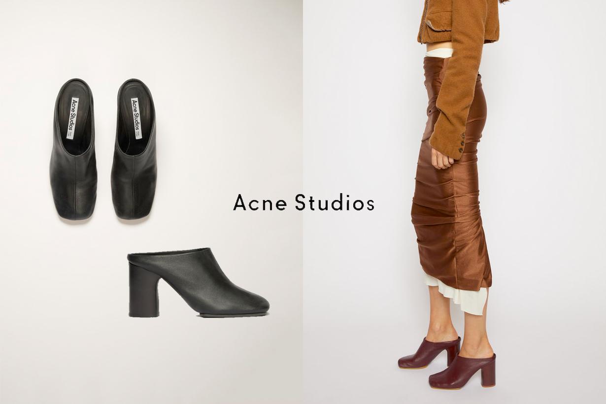 acne studios mules heels 2020 aw