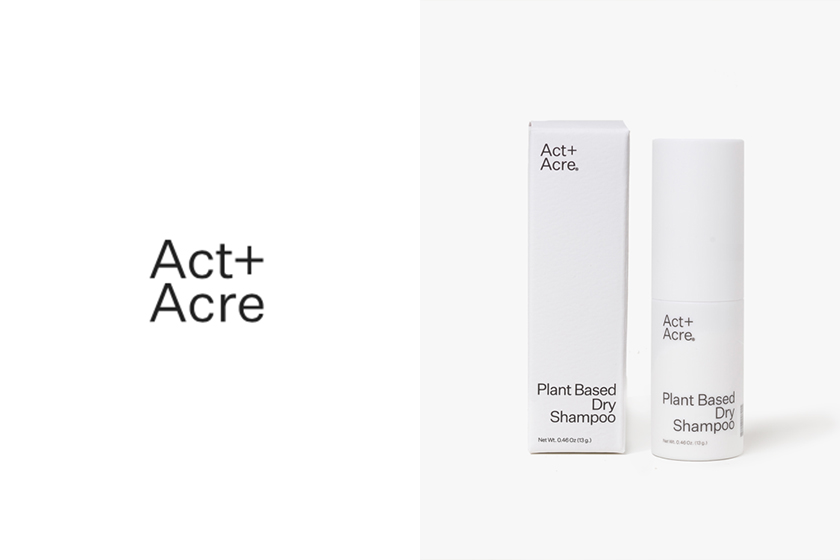 act and acre plant based dry shampoo hair haircare sustainability vegan cruelty free
