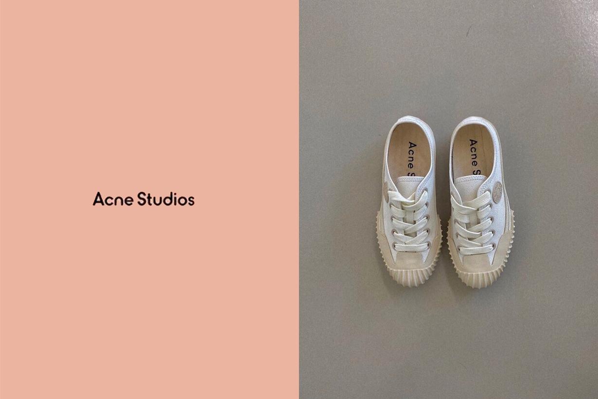 acne studios canvas sneakers basic
