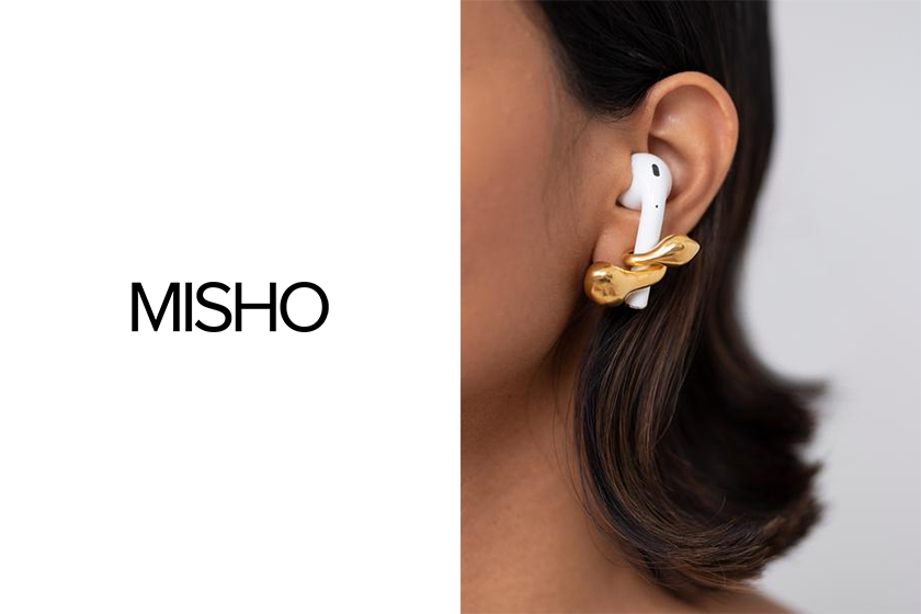 AirPods earrings MISHO Pebble Pods and Tall Pods