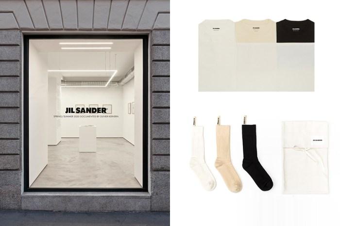 Jil Sander+ 首間快閃店,推出高實用性的極簡 T-Shirt、尼龍抽繩包!