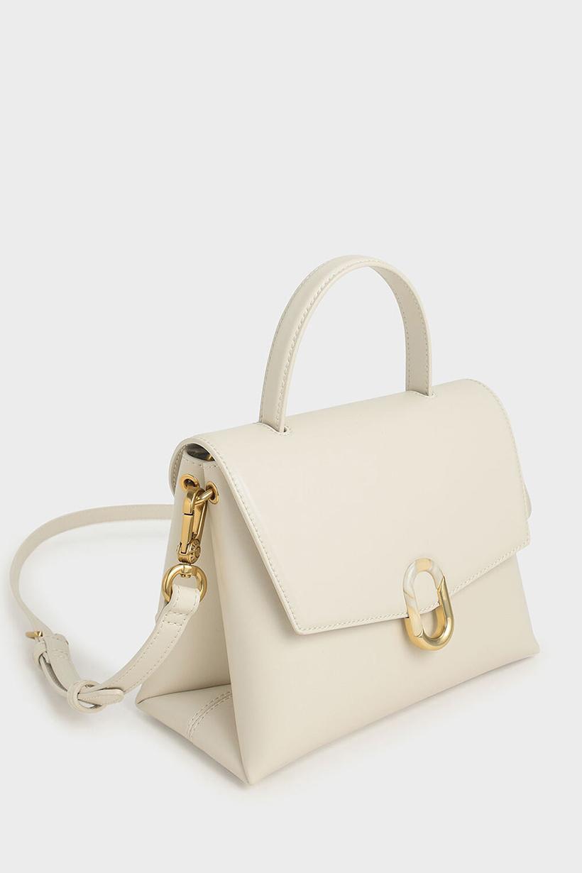 Charles & Keith FW2020 Handbag crossbody in cream color