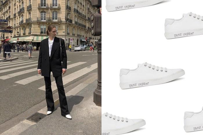 搶著入手的輕高級,Saint Laurent 小白鞋每處細節深得極簡控的心!
