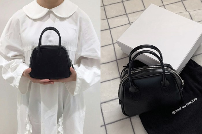 除了牛皮紙袋,日韓女生更愛 Comme Des Garcons 極簡小黑包!